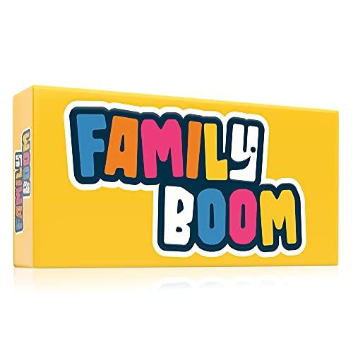 FAMILY BOOM - Le jeu de Societe pour Toute la Famille - 300 Cartes Variées et Fun, Jeu d'ambiance Familles, Jeu de Societe Familial - Jeu de Carte Cadeau Famille Hilarant pour Parents, Enfants