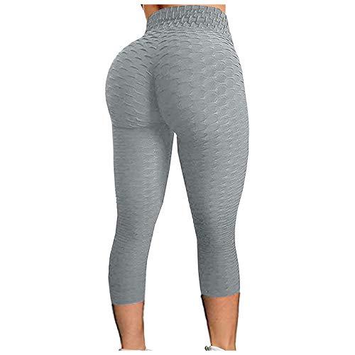 KYZRUIER Pantalones de yoga de cintura alta para mujer, control de barriga, leggings adelgazantes, entrenamiento, correr, deporte, pantalones recortados