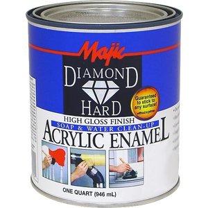 Majic Paints 8-1584-2 Diamond Hard Acrylic Enamel High Gloss Paint, 1-Quart (32 oz), Tint Base #4 Neutral