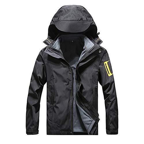 SHANGYI jas heren jas waterdichte capuchon ademende sport outdoor jas tweedelig verwijderbare liner winddichte jas