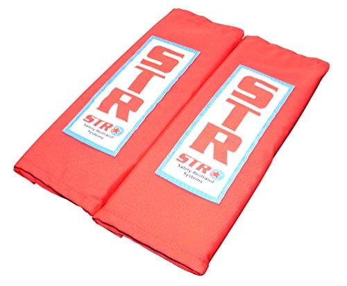 STR Racing Rembourrage Sangles d'épaule pour harnais – 75 mm/7,6 cm – Rouge ou Noir