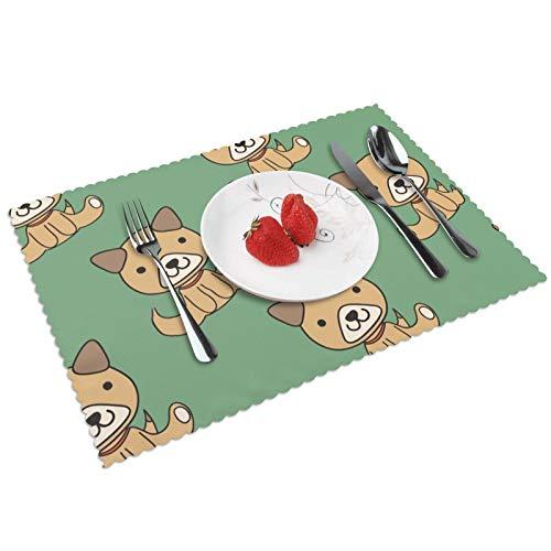 Stock Vector Vector Patrón sin costuras Con Cachorros Mesa Mantel individual de cocina mesa de la alfombra de la mesa de la decoración de la mesa de aislamiento térmico antifouling