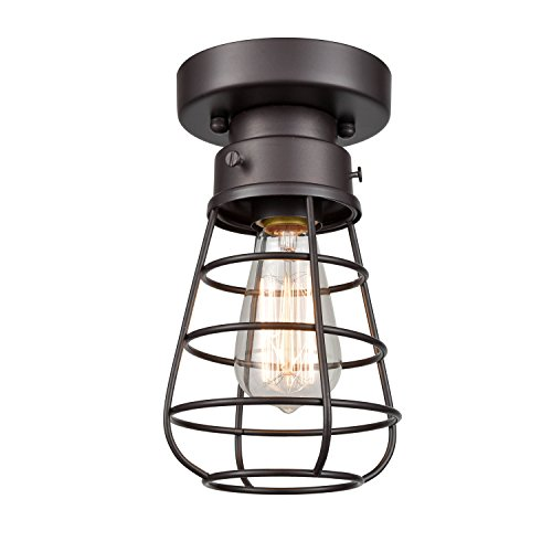 DANXU Retro Industrial Loft Barn Oil Rubbed Bronze Cage...