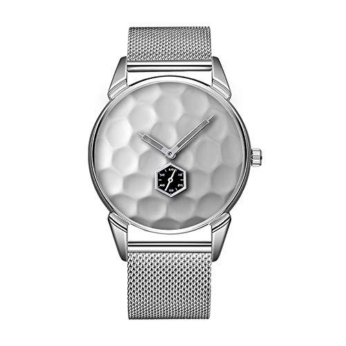 Mode wasserdicht Uhr minimalistischen Persönlichkeit Muster Uhr -408. Golfball Dimples Textur Muster