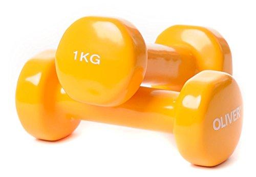 Oliver - Mancuernas con Revestimiento de Vinilo Naranja Naranja Talla:2 x 1,0 kg