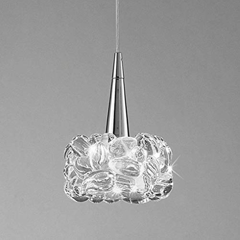 XFZ Kristallpendelleuchte Chrom Klar Anhnger Pendelleuchte Runde Metall Hhenverstellbar Deckenbeleuchtung Moderne Elegante Wohnzimmer Esszimmer Schlafzimmer Kunst Dekorative Kronleuchter 14cm G9