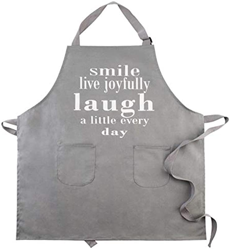 CRJHNS Aprons For Women Men Kitchen Chef Apron With 2 Pockets Extra Long Ties 100 Cotton Canvas Bib Apron For Cooking Baking BBQ 32x28inch Grey