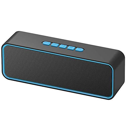 HBBOOI Tragbare Bluetooth-Lautsprecher, TWS Bluetooth 5.0 Wireless-Lautsprecher mit 3D-Stereo Hallo-Fi Bass, Built-in 1500 mAh Akku, 12H Spielzeit (blau)
