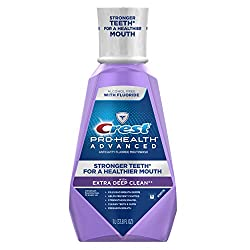Crest Pro-Health Advanced with Extra Deep Clean Mouthwash, Clean Mint, 33.8 Fluid Ounce