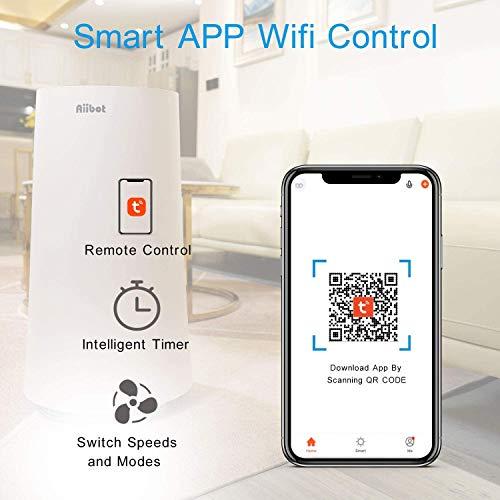 Aiibot-Air-Purifiers-for-home4-in-1-True-HEPA-Filter-Air-PurifierSilent-Sleep-ModeTimerlarge-bedroom4-SpeedsWifi-App-ControlAir-Filter-for-AllergiesDustPets-DanderPollenSmokers100