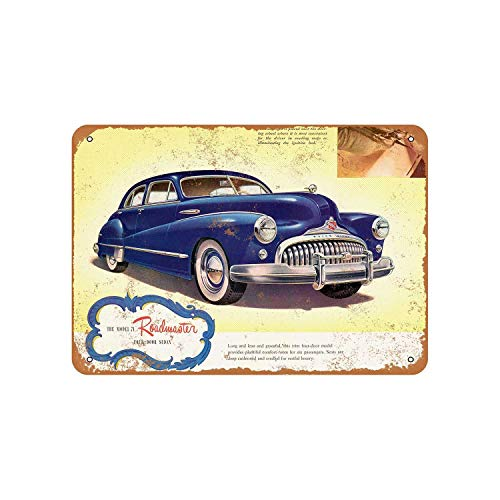 Buick Roadmaster Vintage Aluminum Metal Signs Tin Plaques Wall Poster for Garage Man Cave Cafee Bar Pub Club Shop Outdoor Home Decoration 12