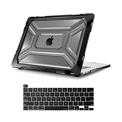 MOSISO MacBook Pro 16 inch Case 2019 Release A2141 with Touch Bar & Touch ID, Heavy Duty Plastic Hard Shell Case with TPU Bumper & Keyboard Cover Only...