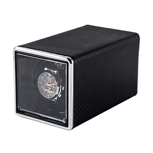 Caja enrolladora de reloj automática enrolladora de reloj Reloj mecánico multicolor Caja de enrollado automático Tapa abierta silenciosa Auto-parada Agitador de reloj individual Vitrina de almacenami