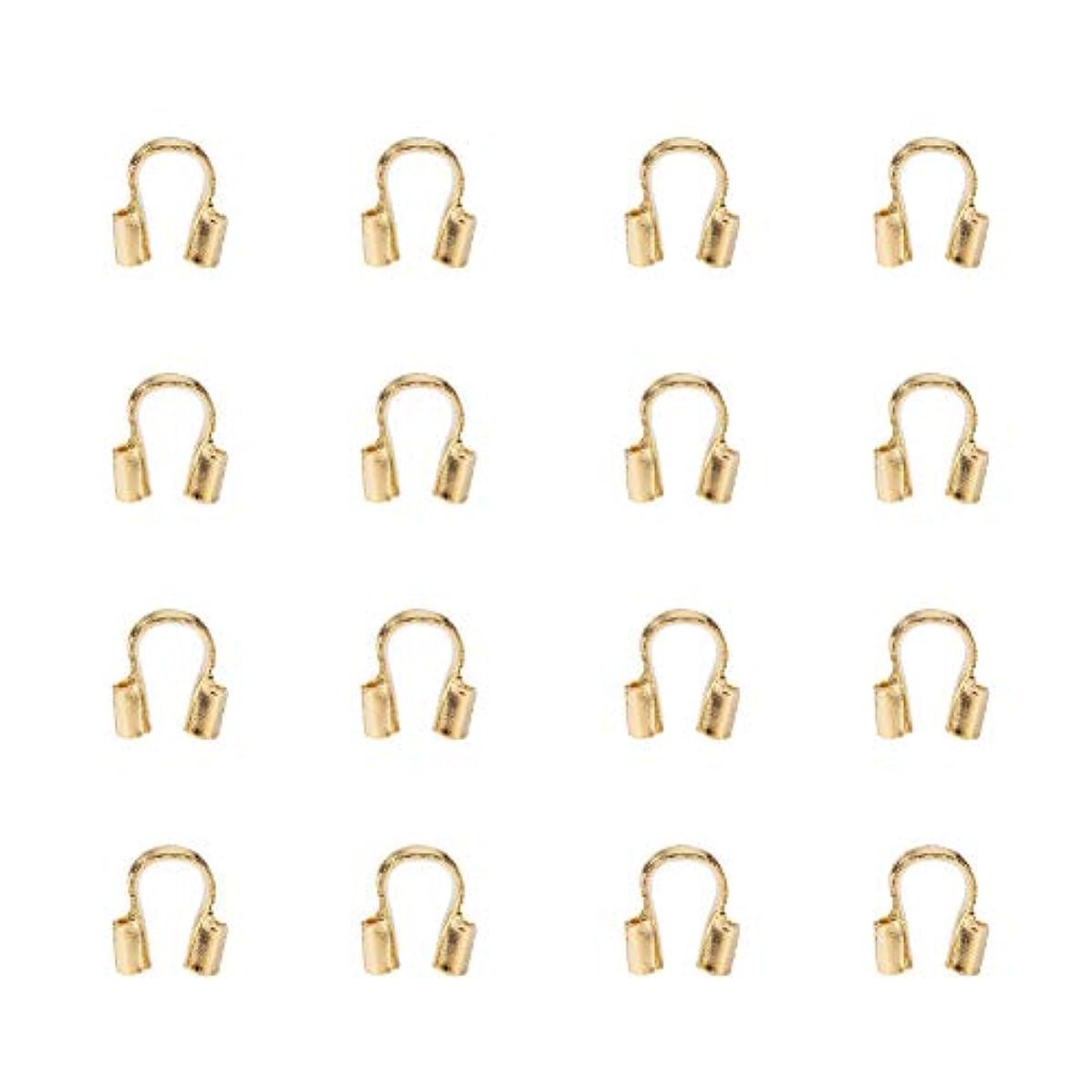 Pandahall 100PCS Golden Brass Wire Guardian Jewelry (4x5x1mm)