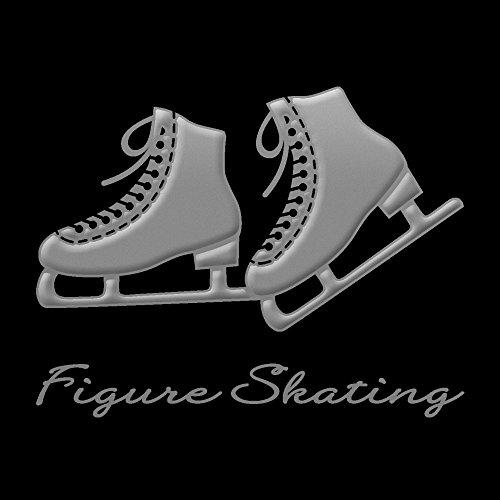 蒔絵シール フィギュアスケート 「スケート靴(両足) 銀」