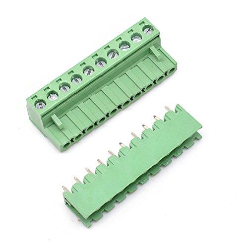 10 Set 10Pin 5.08mm Pitch Stecker Buchse Schraube Klemmenblock