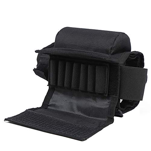 Rifle Cheek Riser, Tactical Rifle Cheek Rest with 7 Rifle Stocks Holder for 300 308 Winmag (Black).