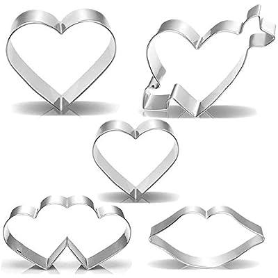Valentine's Day Heart Cookie Cutter Set - 5...