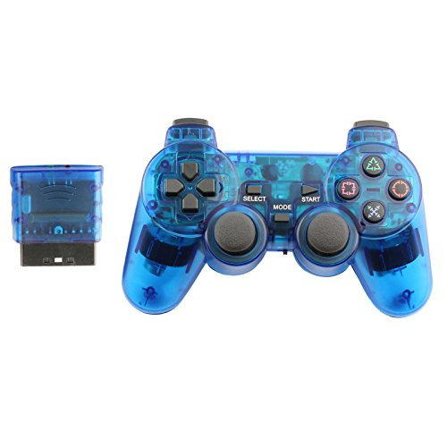 Controller for PS2 Playstation 2 Wireless (Blue)