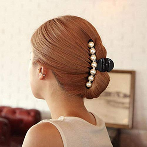 LinZX Haarschmuck Kopfschmuck Perle Diamant große Trompete Haarclip Hairpin ergreifen