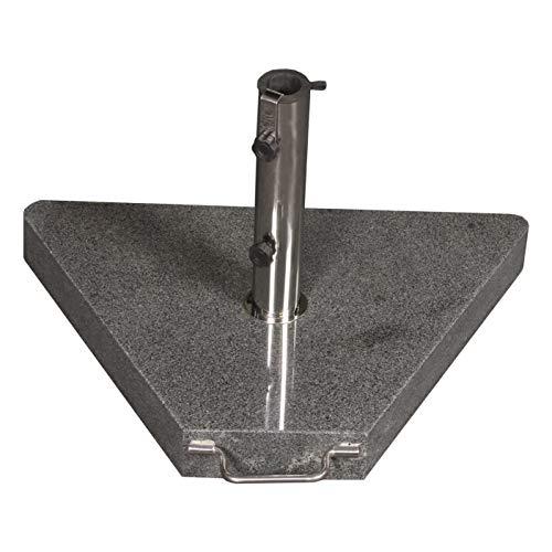 Profiline 40 kg Granit Schirmständer mit Rollen, Triangeloptik, Edelstahl, 1001512