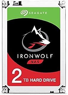 Seagate シーゲイト 内蔵 ハードディスク IronWolf NAS 3.5 インチ 2TB (SATA 6Gb/s / 5900rpm / 64MB ) 大容量 国内正規品 【オリジナル茶箱梱包版】 ST2000VN004