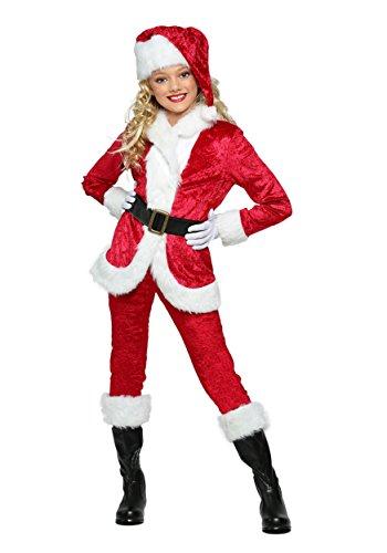 Girl's Sweet Santa Costume Kids Santa Suit for Girls Large (12-14)