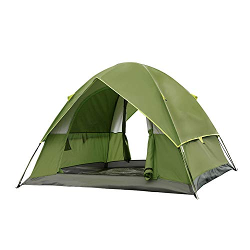 WZLJW Camping Tent,Outdoor Double Layer 3-4 People Festival Tents Dome Tent Compact Ultralight Tents UV Protection Sun Shelter Green 200cm