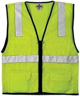 ML Kishigo 1191 Economy Series Ultra Cool Mesh 6 Pocket Vest, Fits 4X-Large and 5X-Large, Lime by ML Kishigo