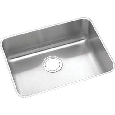 Elkay Lustertone Classic ELUHAD211555 Single Bowl Undermount Stainless Steel ADA Sink