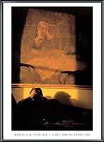 ポスター マーティン・H・M・シュライバー Cafe Slavia Prague 1989 額装品 アルミ製ベーシックフレーム(ブラック)