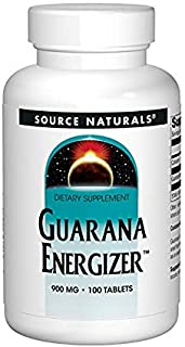 Source Naturals Guarana Energizer 900mg Pure Brazilian Herbal Caffeine Supplement - Natural, Slow Release of Steady Energy...