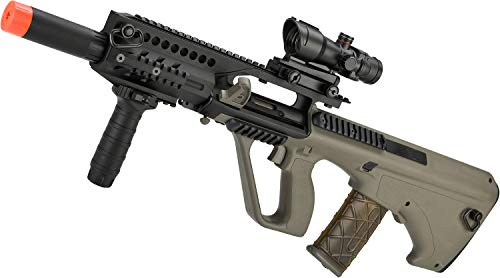 Evike AUG A3 Spec-Ops Carbine Length Airsoft AEG Rifle by JG - Tan