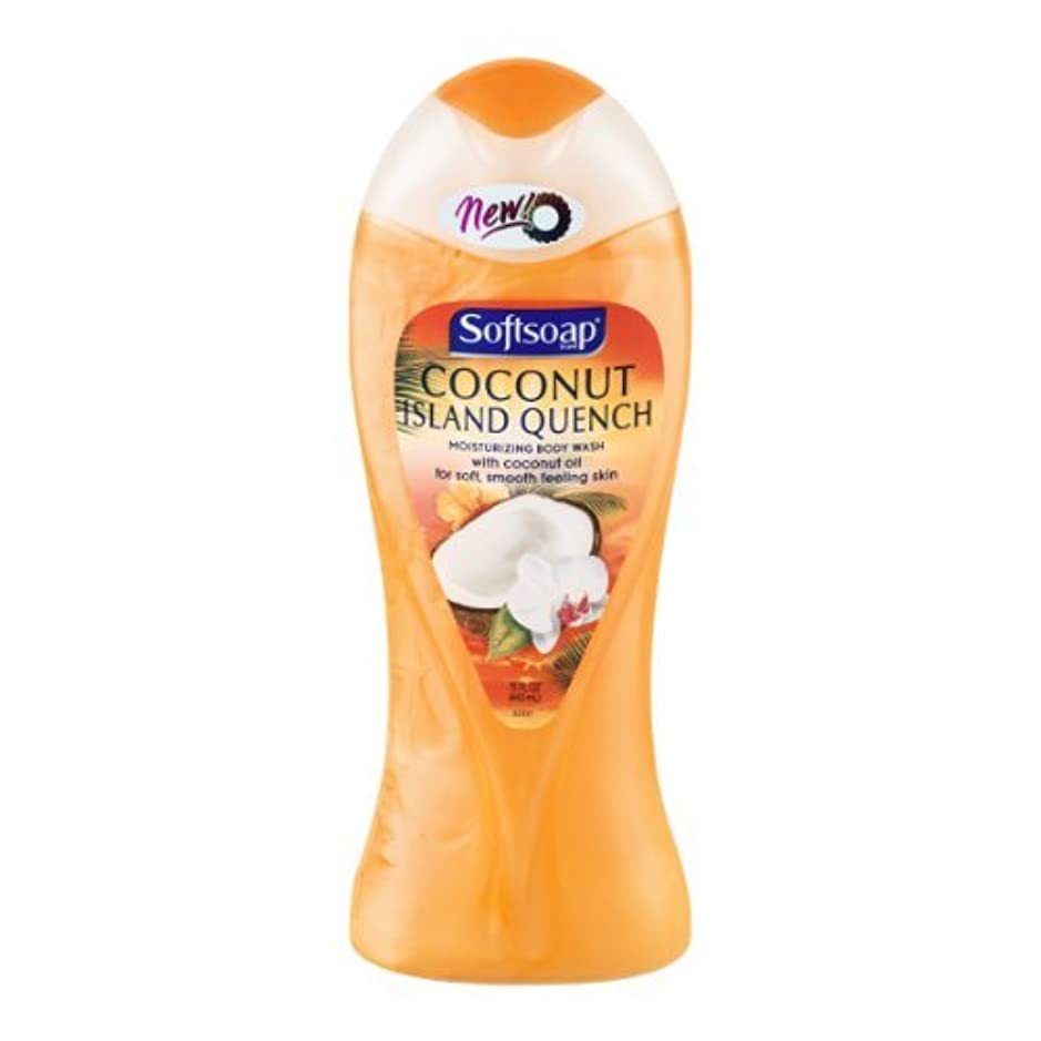 取り付け知人修正するSoftsoap Moisturizing Body Wash Coconut Island Quench, 15 OZ (Pack of 6) by Softsoap