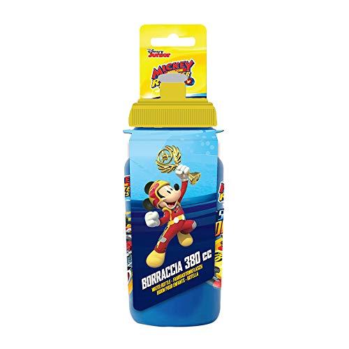 Disney Mickey Mouse, Borraccia da Ciclismo Bambino, Blu, 380ml