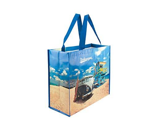 BRISA VW Collection - Volkswagen Große Einkaufs-Tasche-Tüte, Shopper-Bag, Strand-Tasche (VW T1 Bulli Bus Motiv/Beach Life)