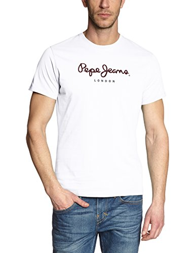 Pepe Jeans Eggo PM500465 Camiseta, Blanco (White 800), Medium para Hombre