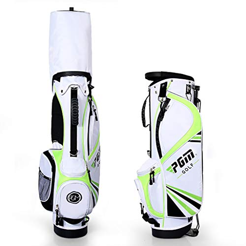 QJXB Stand Bolsa de Golf Caben cómodamente hasta 12 Palos - Bolsa de Golf con 3 Compartimentos Bolsa de Palos para Hombre Bolsa para Palos de Golf,Green-S