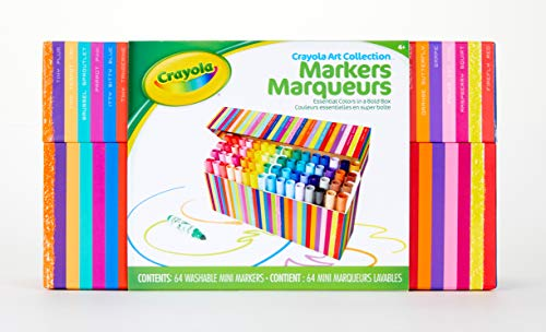 Crayola Pip Squeaks Marker Set, Washable Mini Markers, 64 Count, Gift for Kids