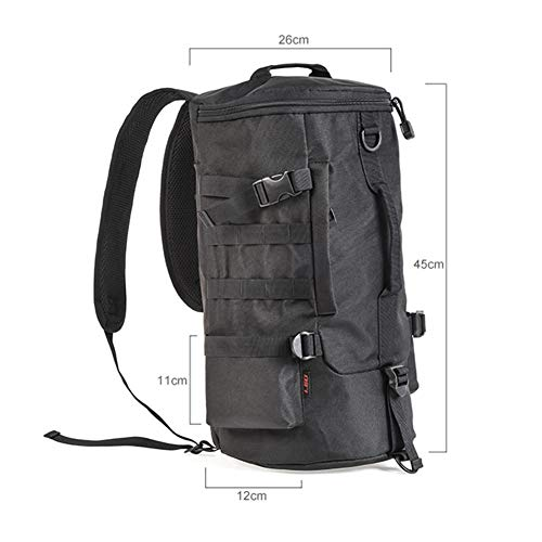 Coyan 45x26x26cm Large Cylindrical Fishing Tackle Backpack, Waterproof Cylindrical Fishing Rod Storage Bag, Outdoor Cylindrical Backpack, is The Best Choice for Outdoor Activities