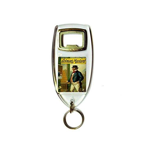 Colman's mosterd retro shabby chic vintage stijl acryl sleutelhanger sleutelhanger en flesopener
