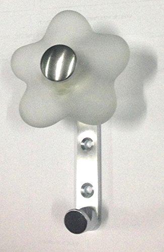 VALLI & VALLI E1004 Wandgarderobe aus Messing und Muranoglas, transparent