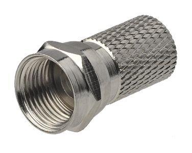 8 Stück - F-Stecker/F-Aufdrehstecker 6mm mit Dichtring
