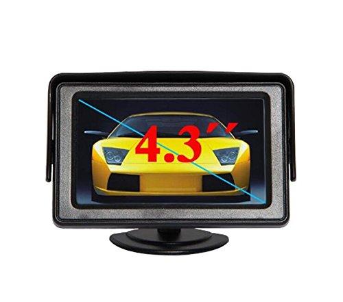 Bw 10,9 cm LED TFT Voiture Rétroviseur Moniteur Voitures Système de Vue arrière pour Voiture Caméra de recul DVD magnétoscope