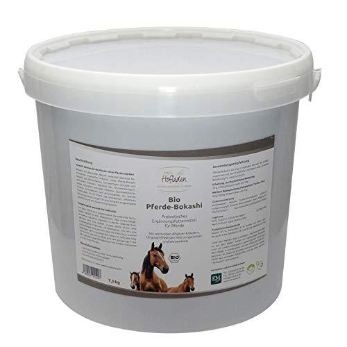 Generisch Bio Pferde-Bokashi 7,5 kg, Ergänzungsfuttermittel für Pferde mit wertvollen Allgäuer Kräutern, Original Effektiven Mikroorganismen und Weizenkleie