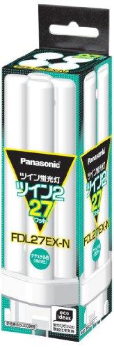 パナソニック ツイン蛍光灯 27形 ツイン2 パルック色 FDL27EXN