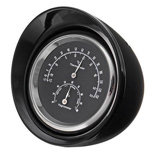 YONGYAO Abs Bullet Design Voiture Mini Thermomètre Mécanique Hygromètre Digital Pointeur Tableau De Bord Ornement-Noir