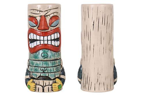 VIEJO VALLE Vaso Tiki cerámica - Vaso Copa Cóctel Tropicales Divertidos (Rainbow) 7.3x19.5cm / 38cl