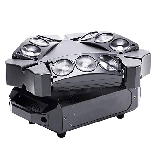 Warm Stage Lights Spider Head Lights 9 LED Heads RGB Stage Lighting Effects Channel DMX-512 And Sound Activation for Wedding Disco Dj Party Lights Romantic
