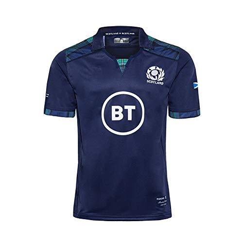 Camiseta Casual de Manga Corta para Hombre 2020 Scotland Home Rugby Jersey Camiseta de fútbol Jersey Polo Personalización Tela Bordada Camisas de Entrenamiento Unisex S-5XL-XXL(185.190CM)